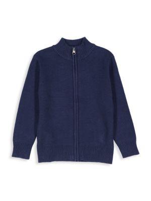 Little Boy's Zip-Front Cotton Sweater