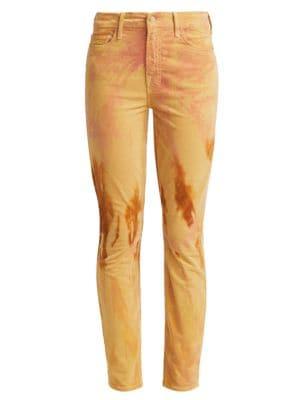 Looker High-Rise Tie-Dye Corduroy Skinny Jeans