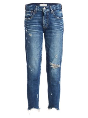 Glendale Distressed Cropped Skinny Jeans