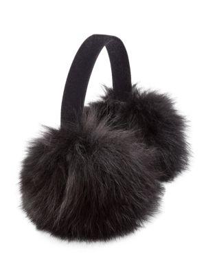 Fox Fur & Velvet Earmuffs