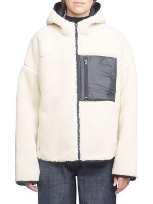 Bonded Faux Shearling Sporty Jacket