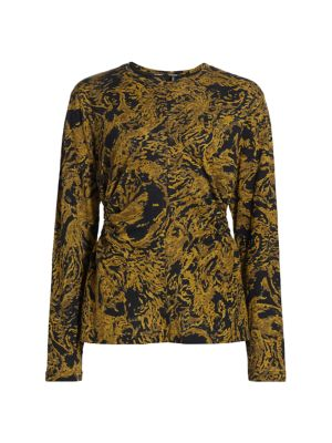 Printed Tissue Jersey Long Sleeve Top