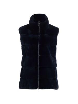 Zandra Rhodes For The Fur Salon Plucked Mink Fur Stand Collar Vest
