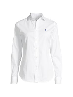 Kendall Long-Sleeve Button-Front Blouse
