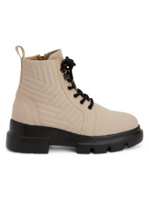 Kaylynn Quilted Leather Combat Boots