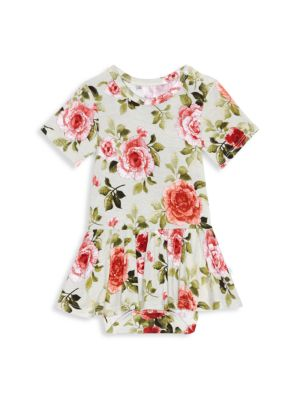 Baby Girl's Lizzie Short-Sleeve Twill Ruffle Bodysuit