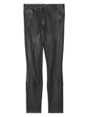 Bristol High-Rise Leather Pants