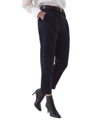 Wool Pinstripe Pants