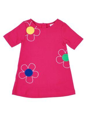 Little Girl's Pique Flower Dress