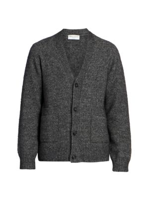 Angora & Wool-Blend Knit Sweater Cardigan