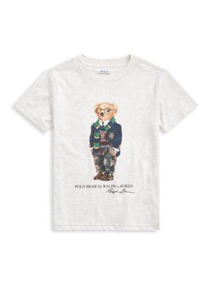 Little Boy's Polo Bear Jersey T-Shirt