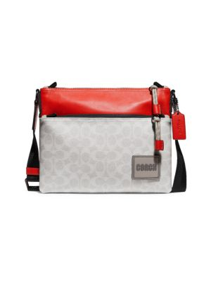 Signature Pacer Coated Canvas Crossbody Bag