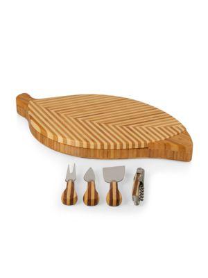 Leaf 5-Piece Cheese Cutting Board & Tools Set