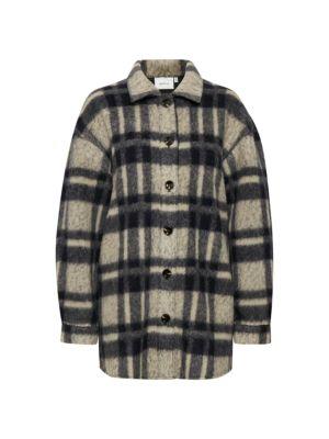Rina Plaid Wool-Blend Shirt Jacket