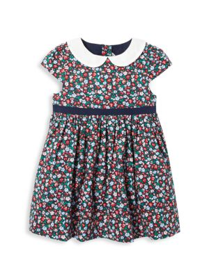 Baby Girl's 2-Piece Floral Bow Dress & Bloomers Set