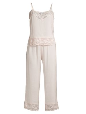 Moonlight 2-Piece Lace Trim Camisole & Pants Pajama Set