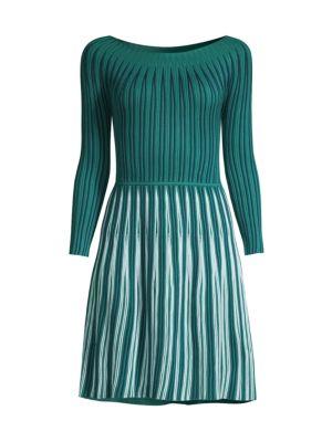 Knit Three-Quarter Sleeve Dress