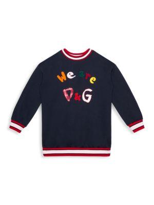 Little Girl's & Girl's Multicolor Logo Patch Sweatshirt