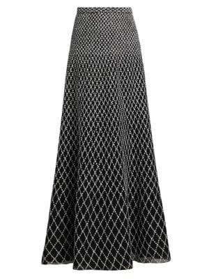 Diamond-Knit Maxi Skirt