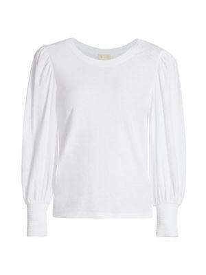 Loren Slim-Fit Long Puff-Sleeve T-Shirt