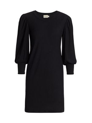 Loren Puff-Sleeve Shift Dress