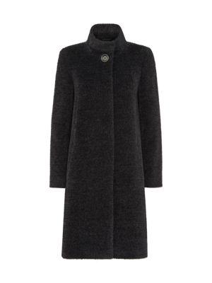 Textured Alpaca Wool Coat