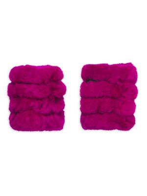 Rabbit Fur Knit Texting Mittens