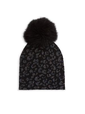 Cashmere Blend Lurex Jacquard Knit Gloves
