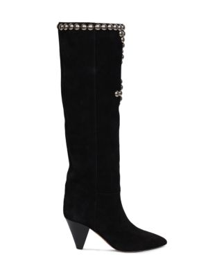 Lalle Studded Tall Suede Boots