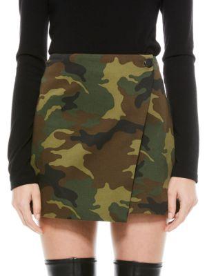 Renna Button Wrap Mini Skirt