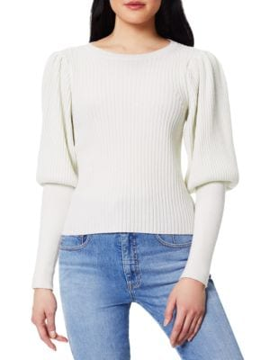 Angie Wool & Cashmere Blouson-Sleeve Knit Sweater
