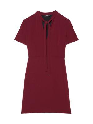 Tie-Neck A-Line Dress
