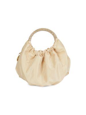Mini Vera Crystal Strap Satin Bag