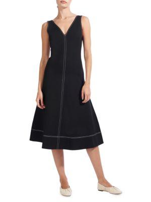 Dew Exposed Seam A-Line Dress