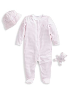 Baby Girl's 3-Piece Charming Set