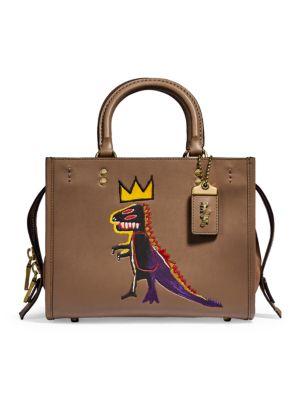 Coach x Basquiat Rogue Pez Dispenser Leather Top Handle Bag