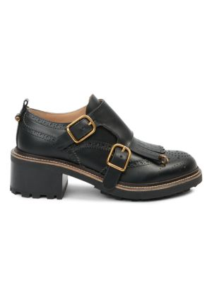 Franne Monk-Strap Leather Loafers