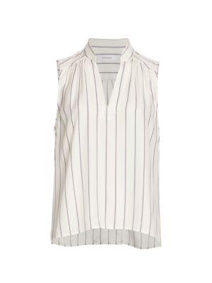Cali Sleeveless Striped Silk Top
