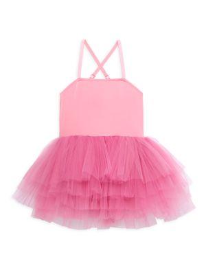 Little Girl's & Girl's T.T.Y.L Tutu Dress Square Neck Criss Cross Tutu