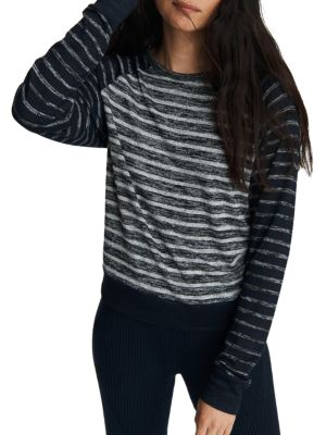 The Knit Striped Pullover Top