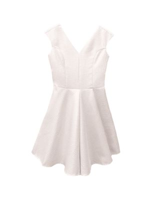 Girl's Quilted Jacquard Dress
