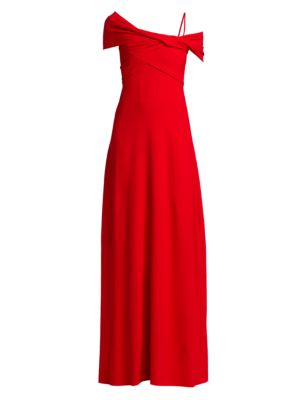 Off-The-Shoulder Wrapped Gown