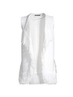 Brielle Fringe Knit Vest