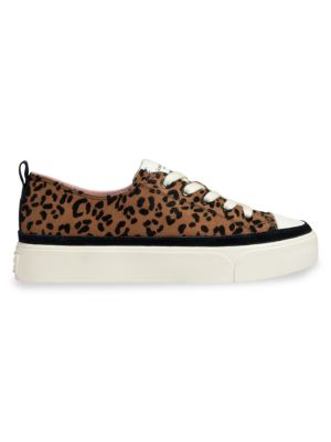 Kaia Leopard-Print Suede Platform Sneakers