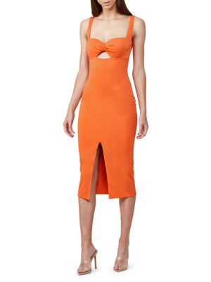 Paloma Cutout Front-Slit Dress