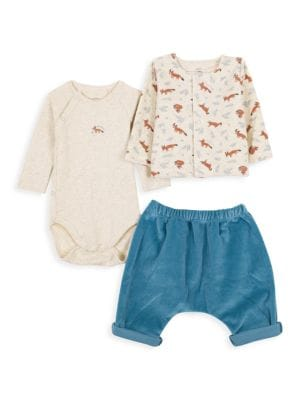 Baby's 3-Piece Coverall, Top & Pants Set