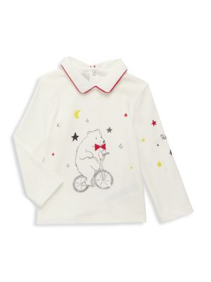 Baby Boy's Bear Embroidered Top
