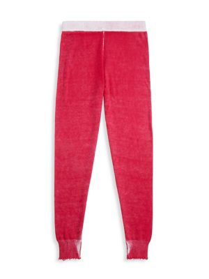 Girl's Cozy Reversed Frayed Joggers