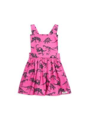 Baby Girl's & Little Girl's Dinosaur Pinafore Dress