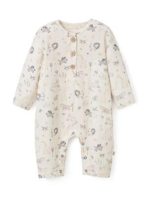 Baby Boy's Safari-Print Jumpsuit